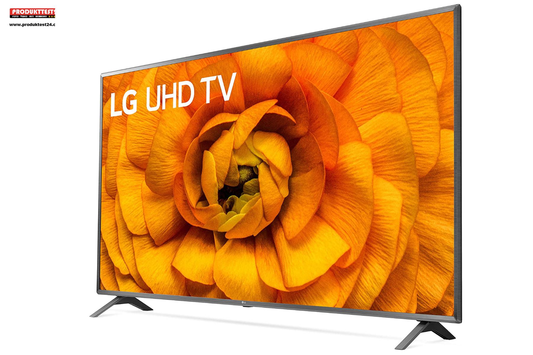 Der LG 86UN8500 kann HDR10 pro, Dolby Vision IQ und Dolby Atmos