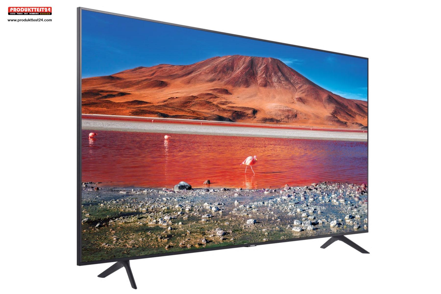 Samsung GU75TU7079 mit einer Bilddiagonalen von stolzen 189 cm