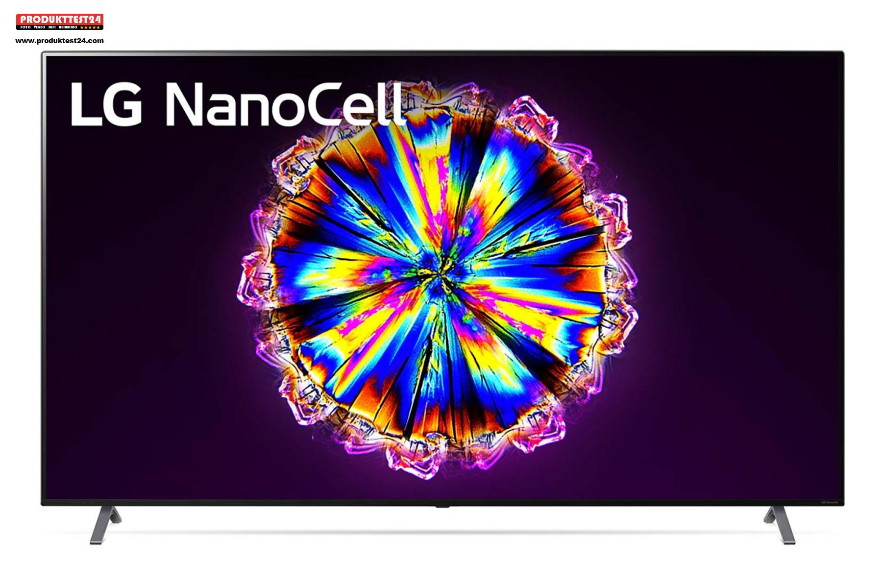 Der LG 86NANO906NA mit einer sichtbaren Bilddiagonale von stolzen 217 cm.