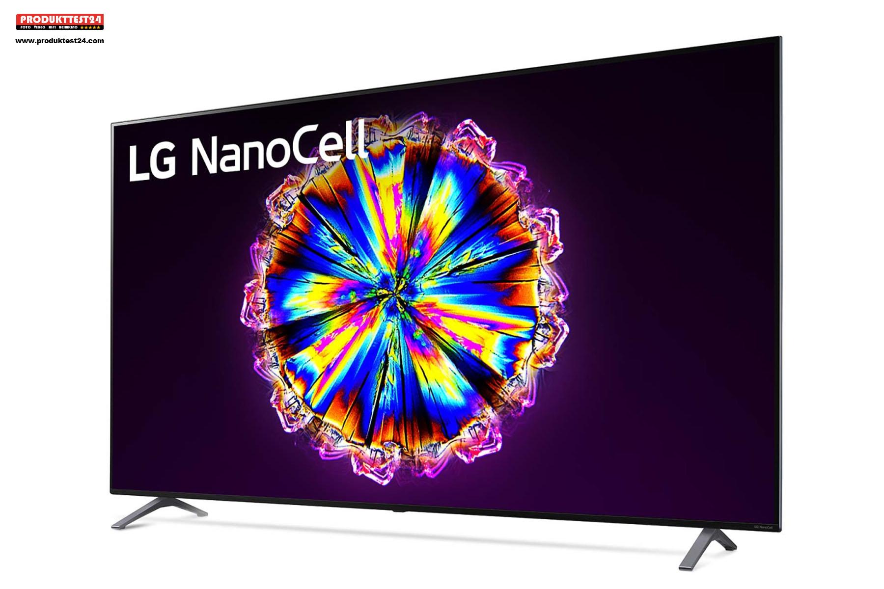 LG 75NANO906NA mit 189 cm Bilddiagonale und 4K-Auflösung.
