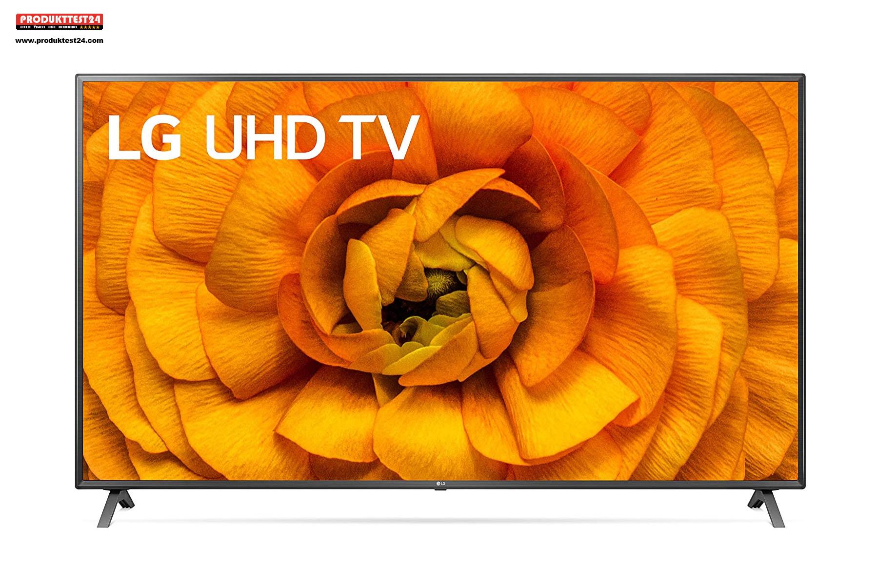 Der LG 75UN85006LA mit seinem 189 cm großen 4K-Display und Dolby Vision IQ Unterstützung