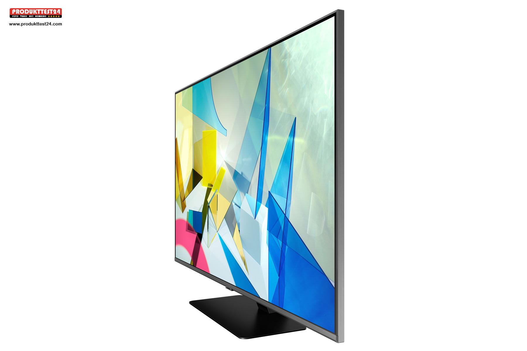 Der Samsung GQ75Q80T bietet auch von der Seite eine hohe Blickwinkelstabilität.