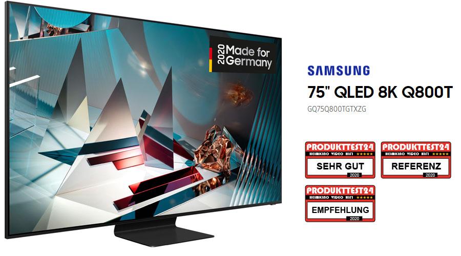 Samsung GQ75Q800T im Test