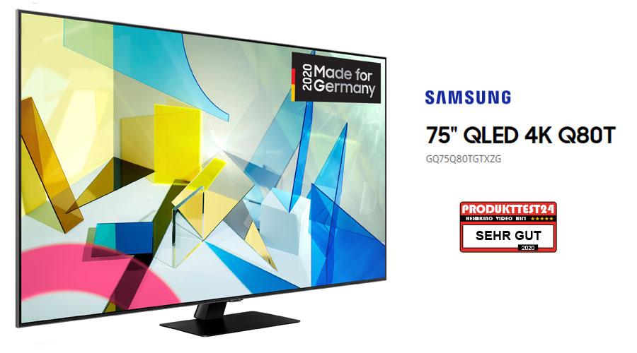 Samsung GQ75Q80T im Test