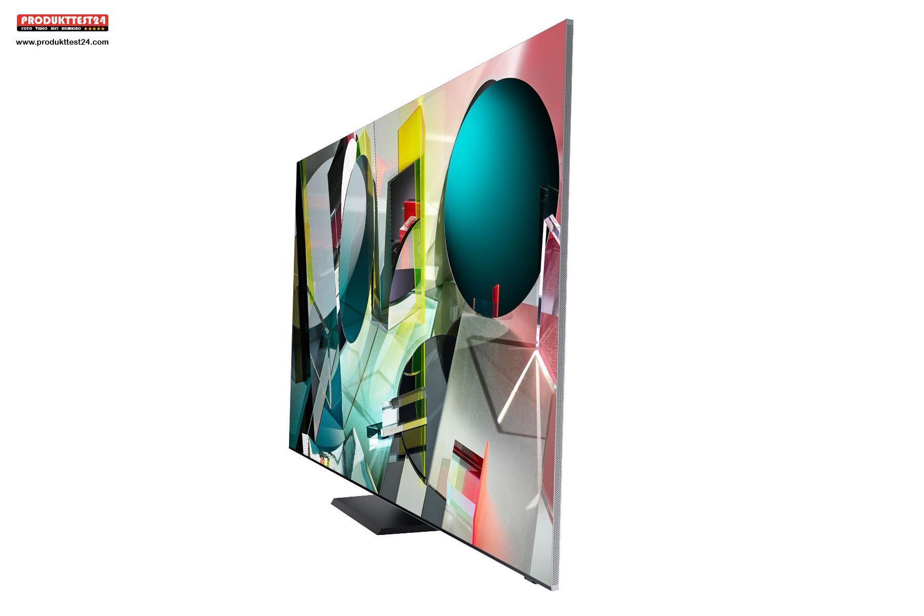 Der Samsung GQ75Q950T besitzt ein extrem flaches Gehäuse mit einer Tiefe von nur 1,5 cm