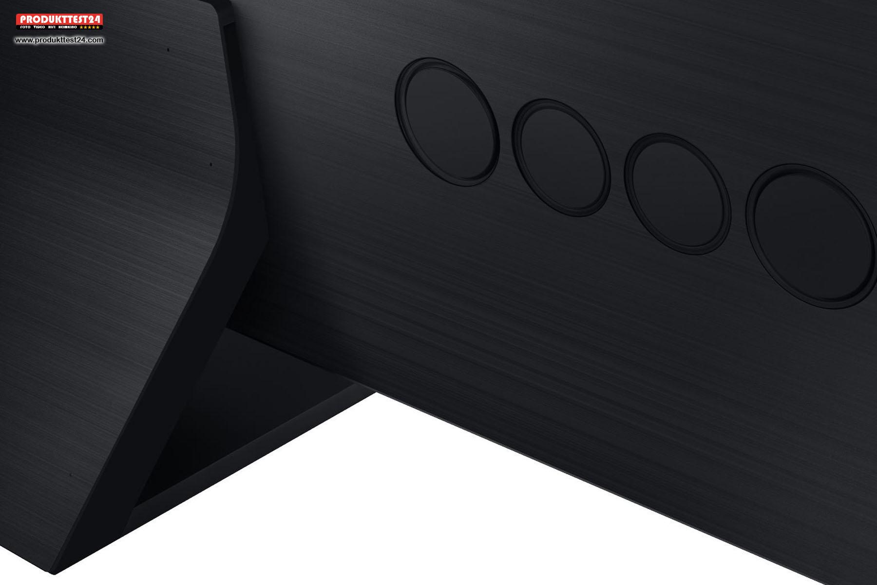 Das integrierte 4.2.2 Kanal Soundsystem des Samsung GQ75Q950T