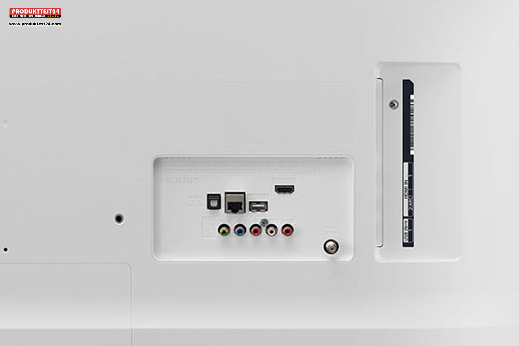 Der LG 43UN7390 verfügt über zahlreiche Anschlussmöglichkeiten