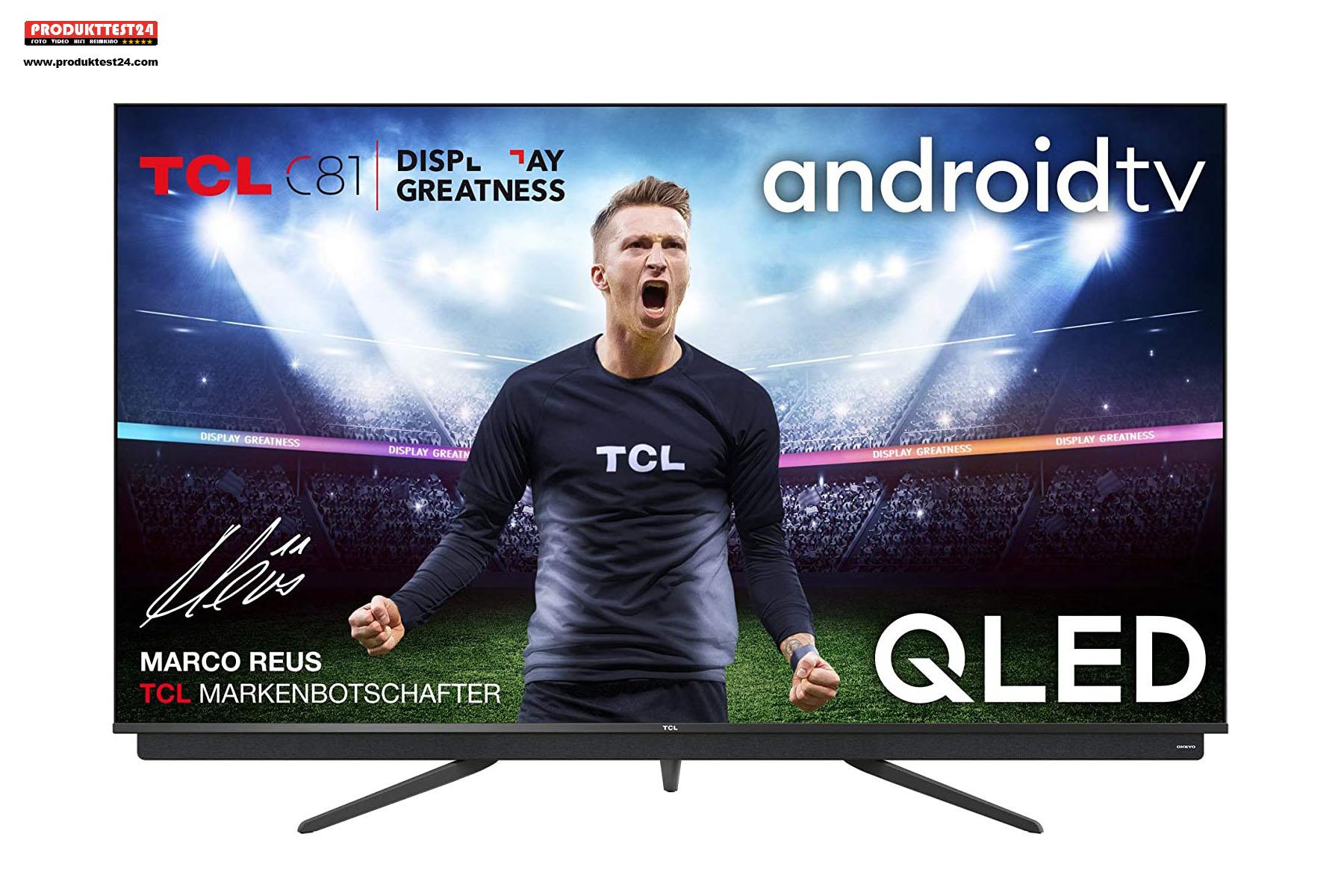 Der TCL 65C815 - 65 Zoll Bilddiagonale QLED 4K-Display mit HDR1ß und Dolby Vision