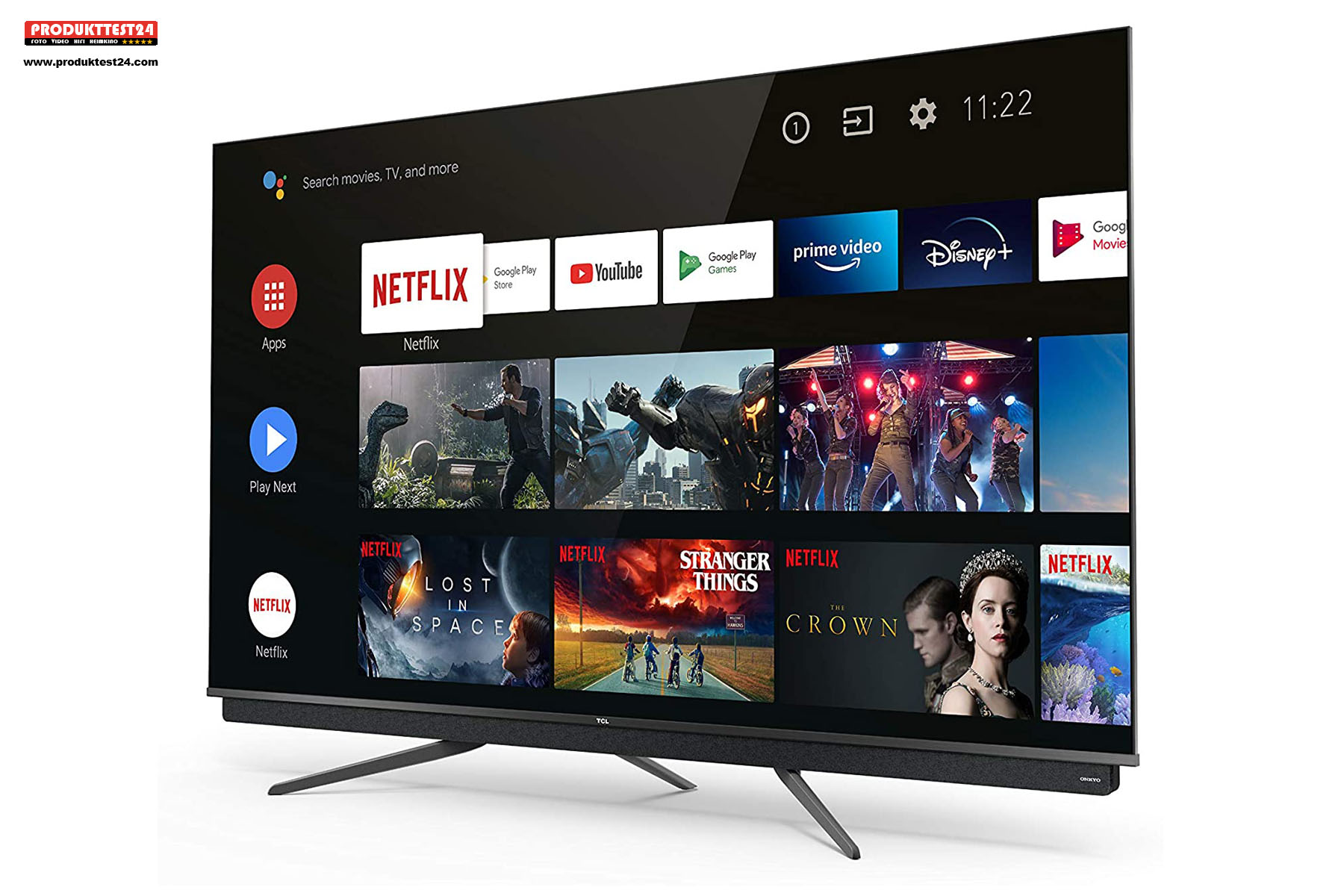 TCL 75C815 QLED 4K Ultra HD Fernseher mit HDR10+ und Dolby Vision IQ