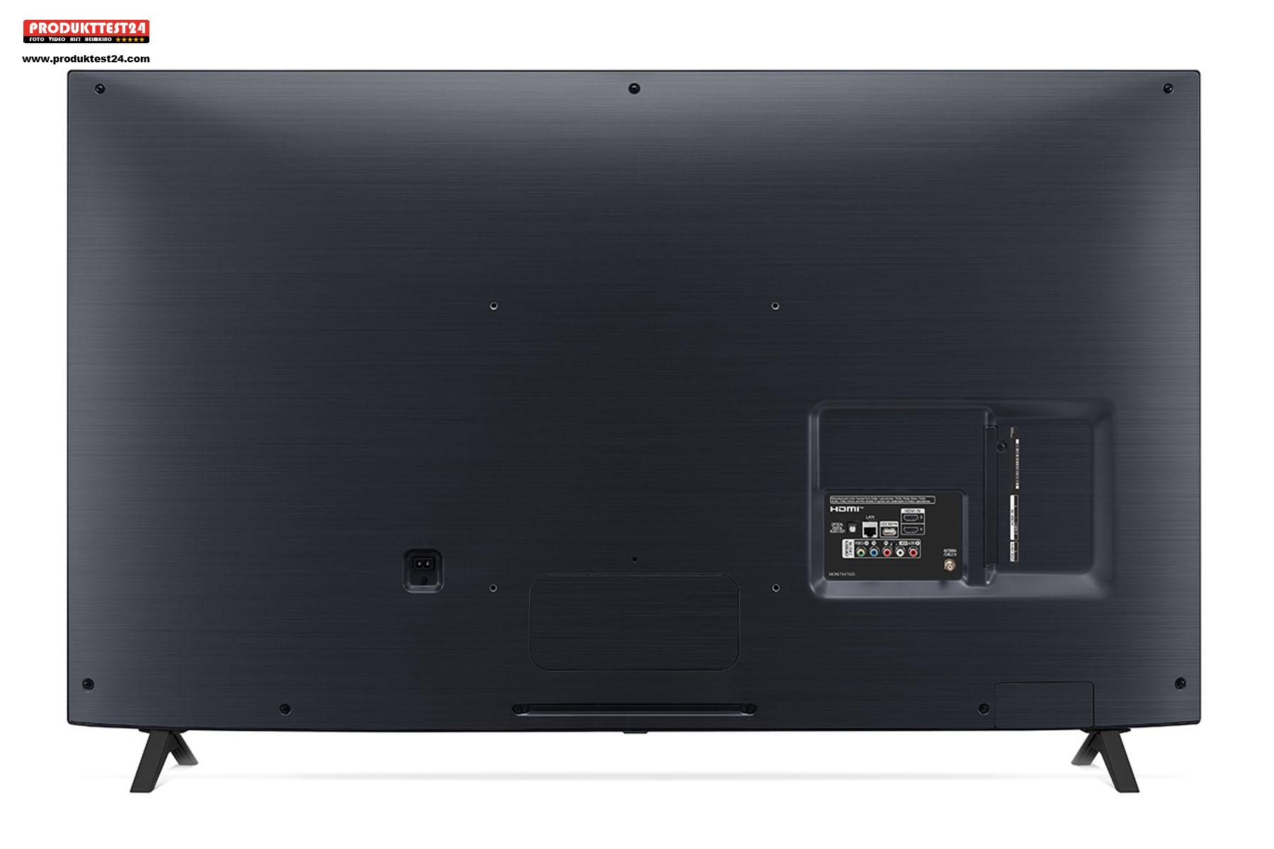 Die Rückseite des LG 49NANO806NA ist schlicht gehalten.