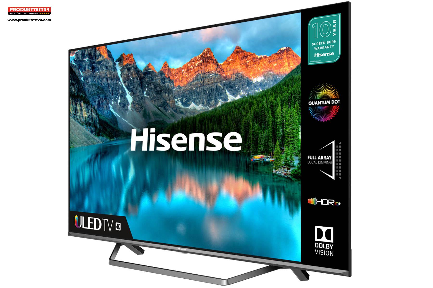 Der Hisense 65U7QF kann HDR10, Dolby Vision und Dolby Atmos