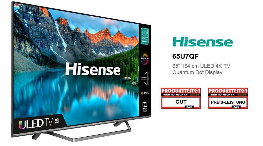 Der Hisense 65U7QF QLED 4K-Fernseher im Test