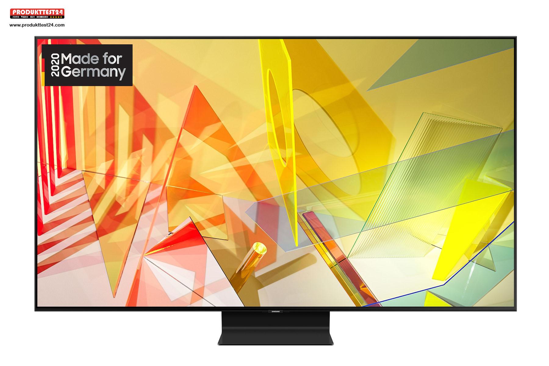 Der Samsung GQ75Q95T mit seinem 189 cm großem 4K-Display mit 2000 Candela, HDR10+