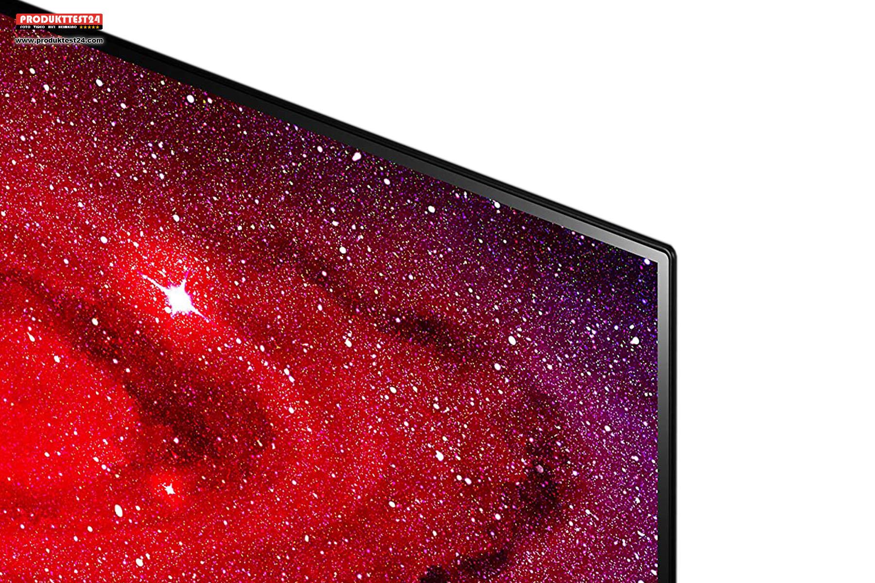 Rahmenloses Design- Das Display des LG OLED65CX geht bis zur Kante des Rahmens.