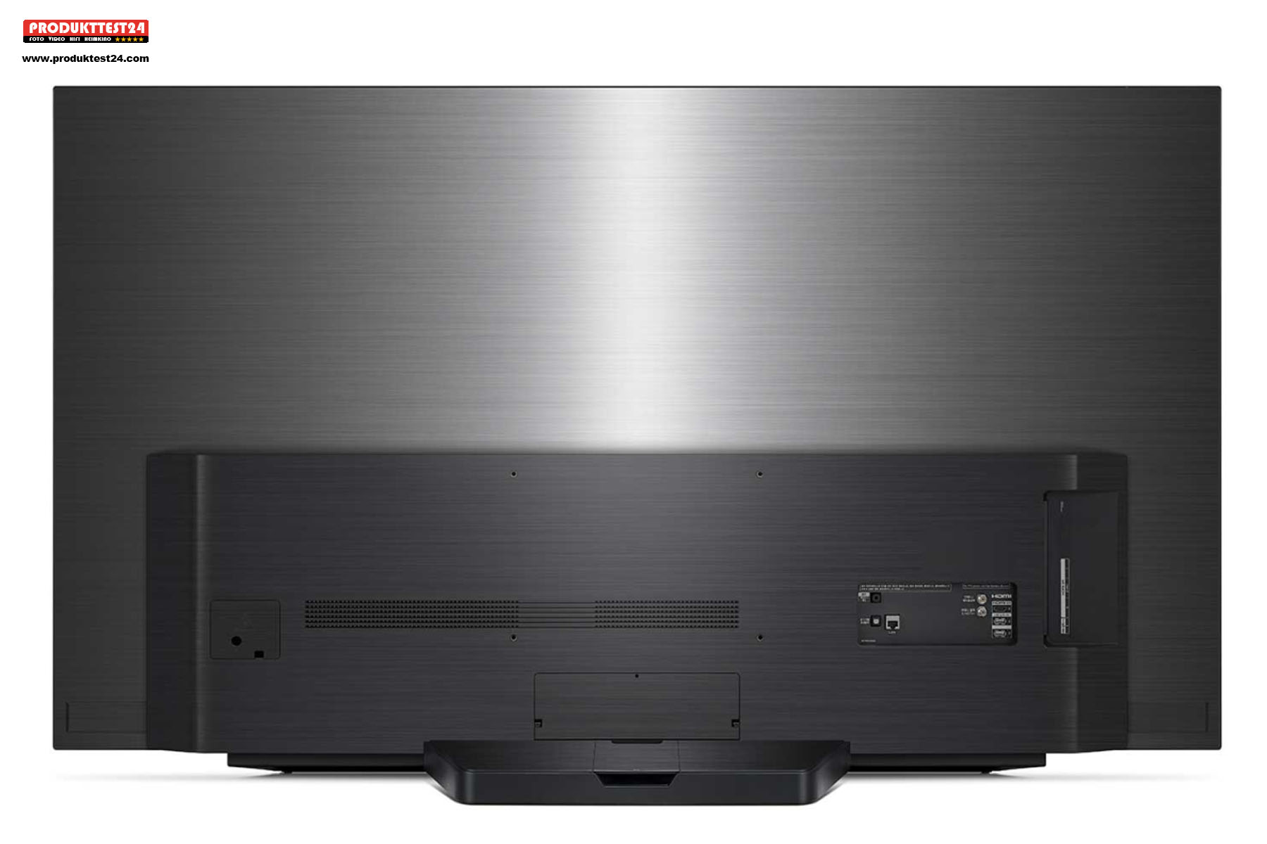 Auch die Rückseite des LG OLED65CX9LA ist hochwertig.
