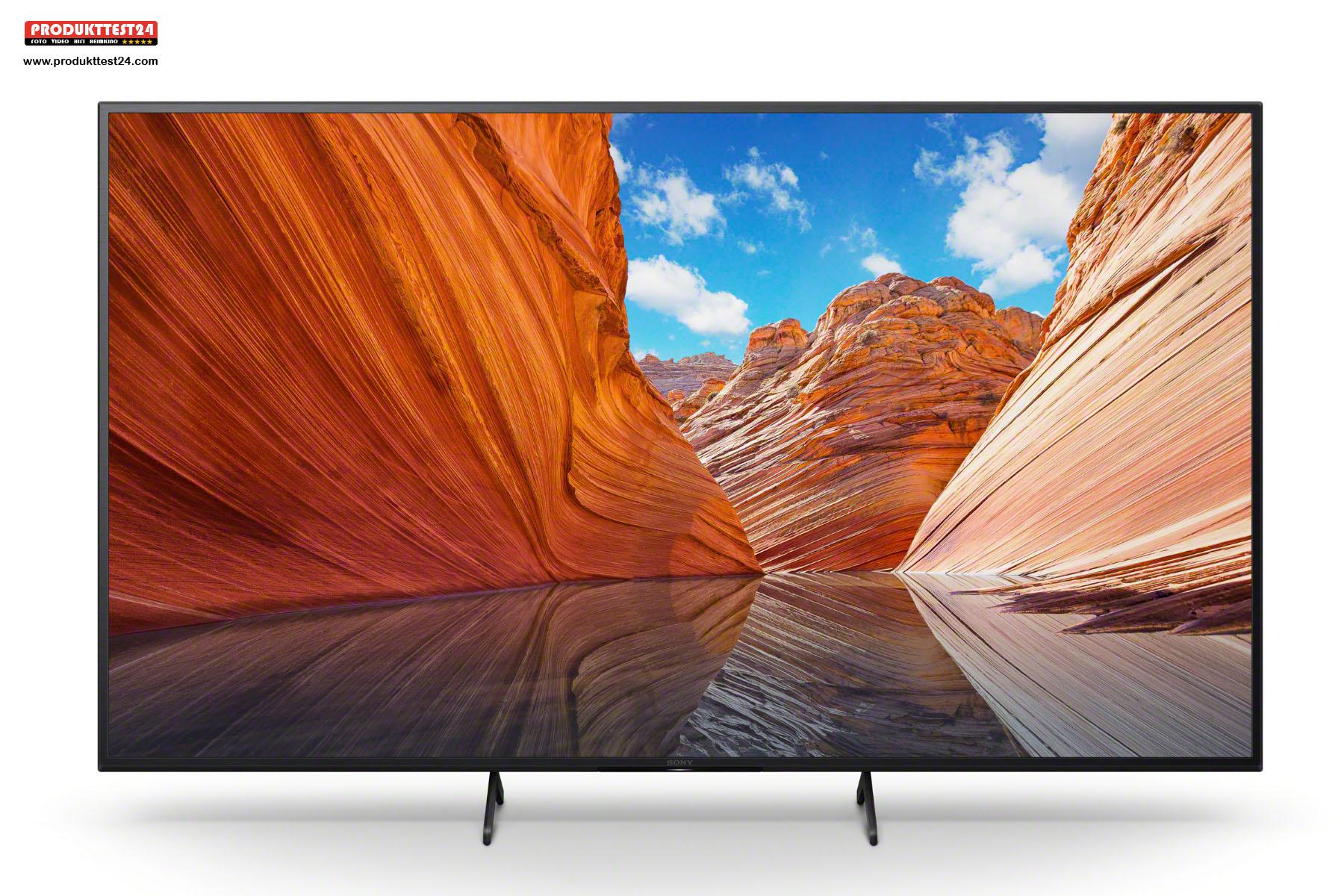 Der Sony KD-65X80J verfügt über das neue Google TV mit Sprachsteuerung.