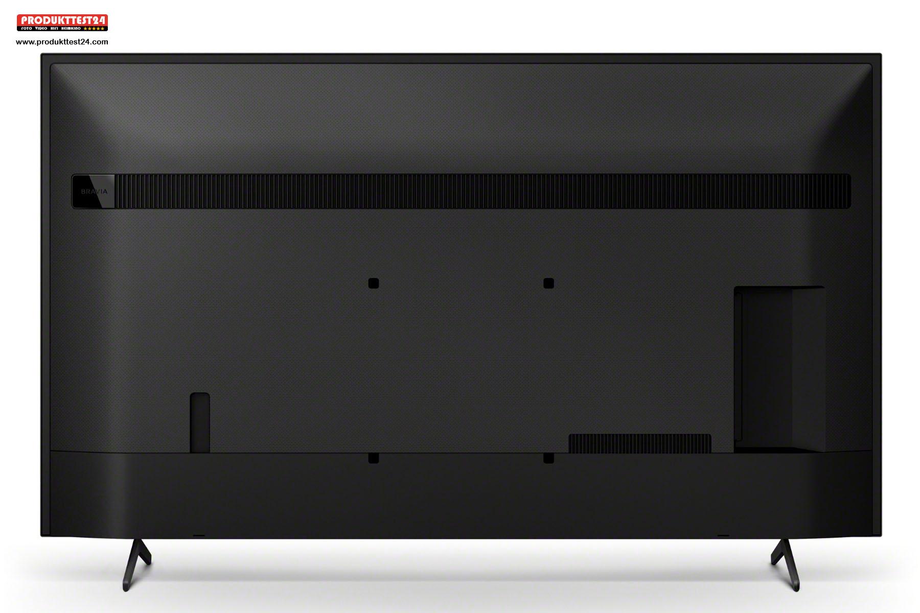 Auch die Rückseite des Sony KD-65X80J sieht schick aus