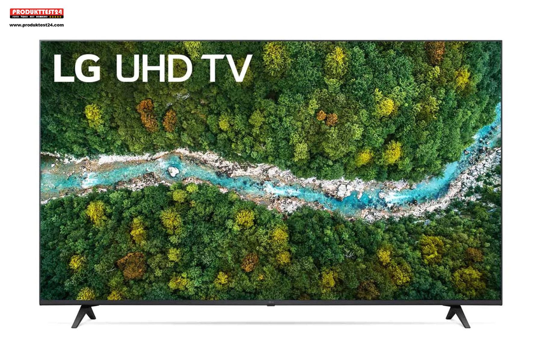 Der LG 55UP77009LB verfügt über SmartTV, Triple Tuner und Sprachsteuerung.