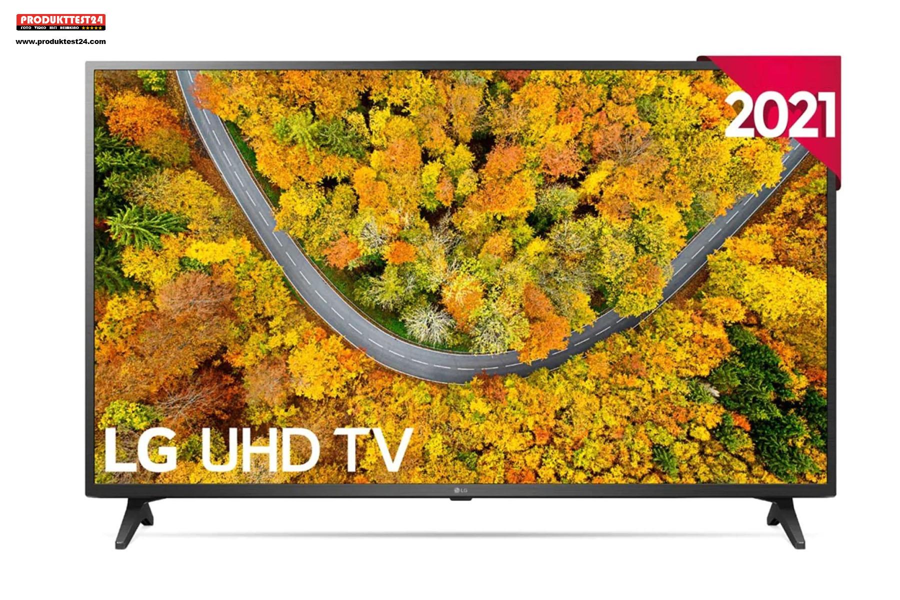 Der LG 65UP75009LF UHD 4K-Fernseher mit Sprachsteuerung, Smart TV und Triple Tuner