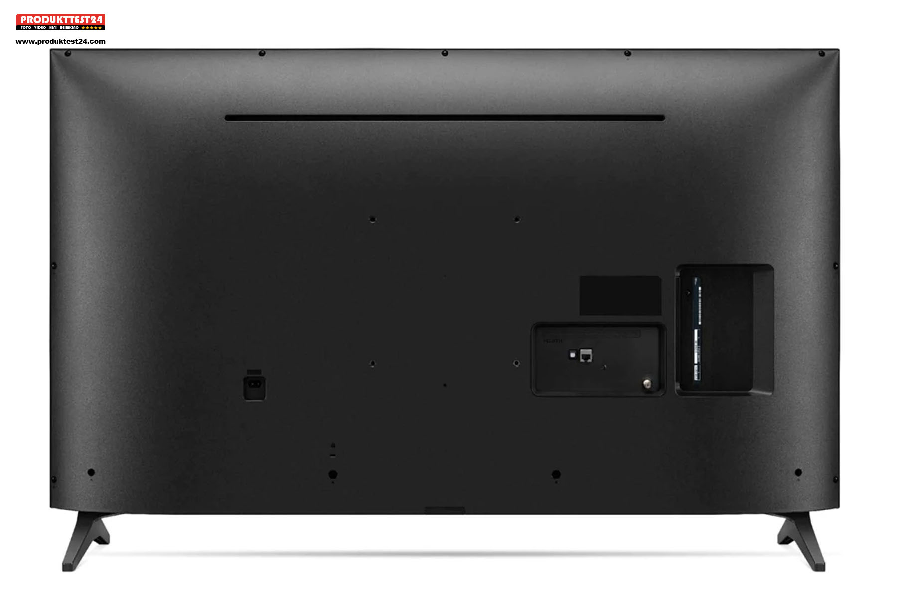 Die Rückseite des LG 65UP75009LF - Wenig Anschlussmöglichkeiten