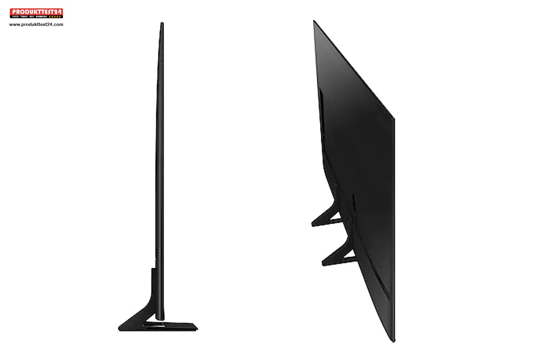 Der Samsung GU55AU9079 ist extrem schlank. Er misst nur 2,5 cm in der Tiefe!
