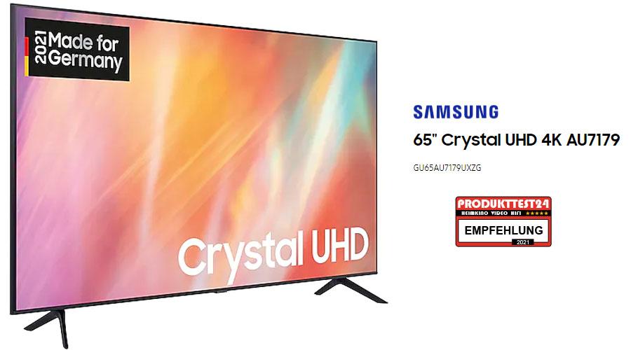 Samsung GU65AU7179 4K-Fernseher im Test