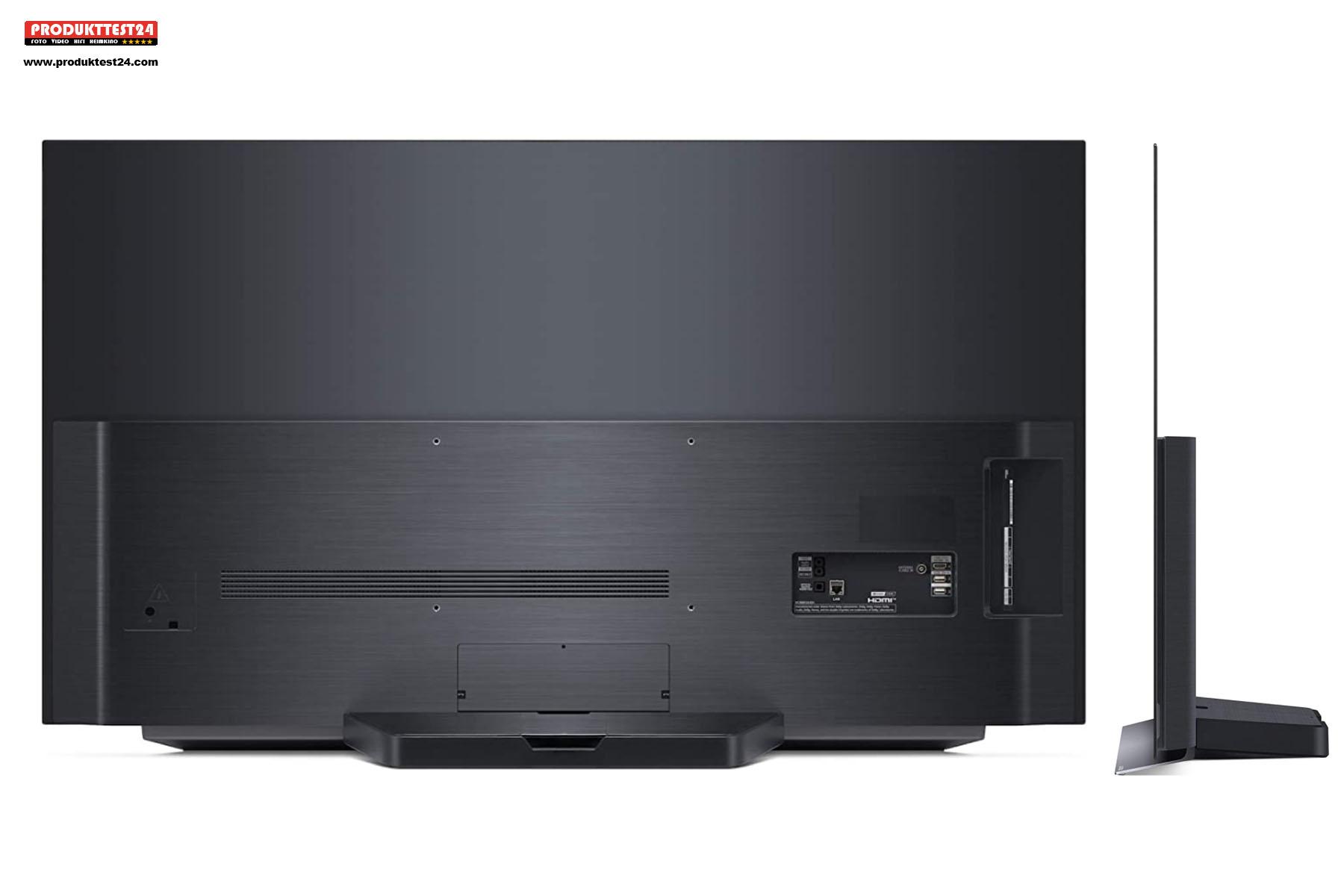 LG OLED55C17LB - Ansicht von Hinten und der Seite