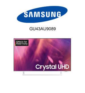 Der weiße Samsung GU43AU9089 im Test