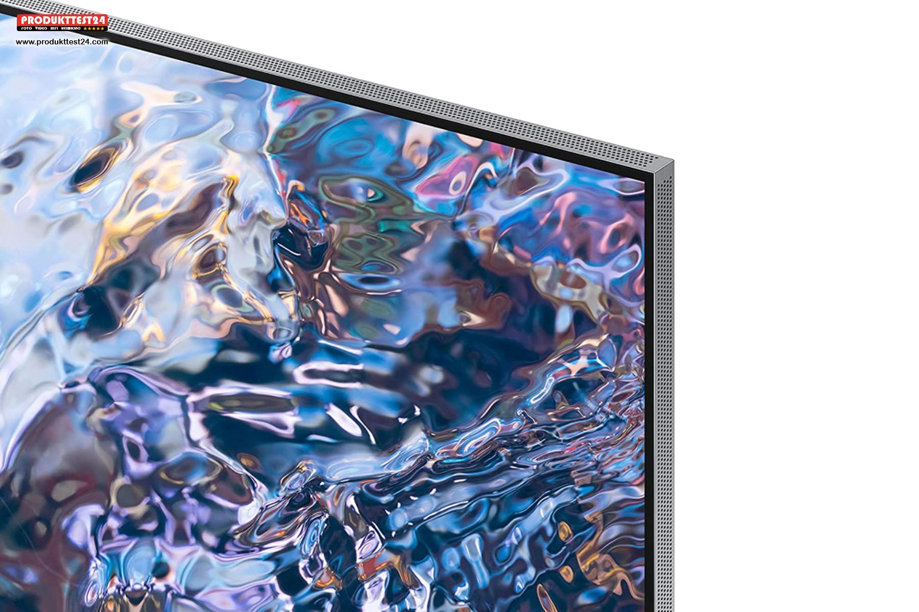 Der Samsung GQ55QN700A ist nur 1,8 cm dünn und besitzt einen schicken Metallrahmen