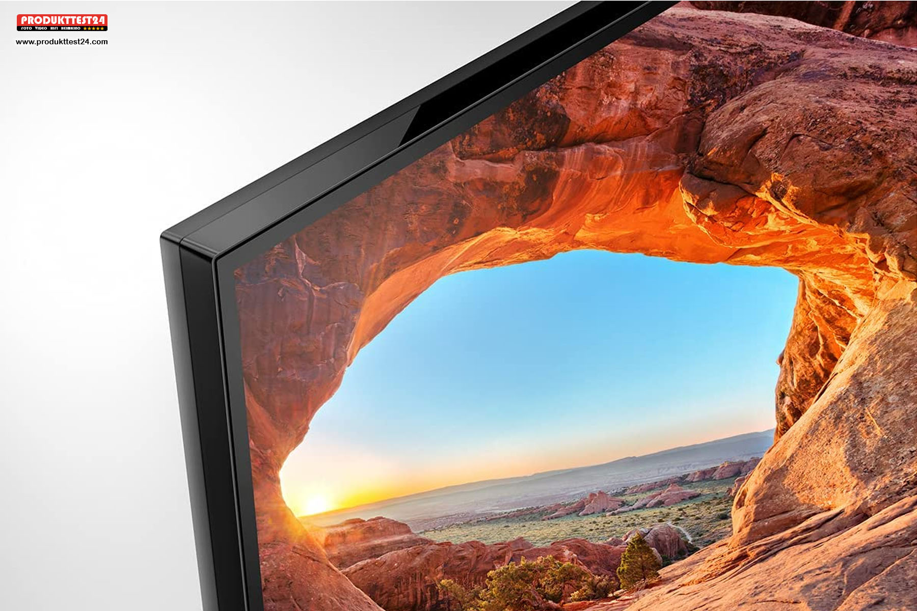Das riesige 85 Zoll Display geht nahtlos in den Rahmen über