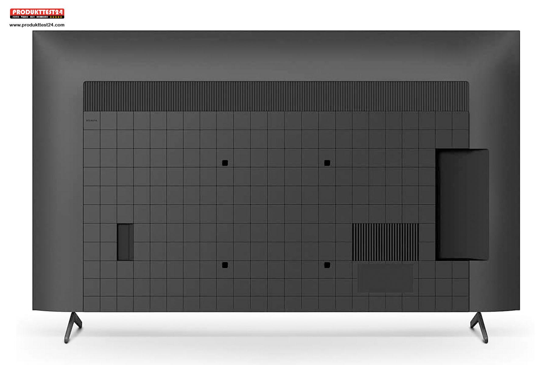 Auch die Rückseite des Sony Bravia Fernsehers sieht schick aus.