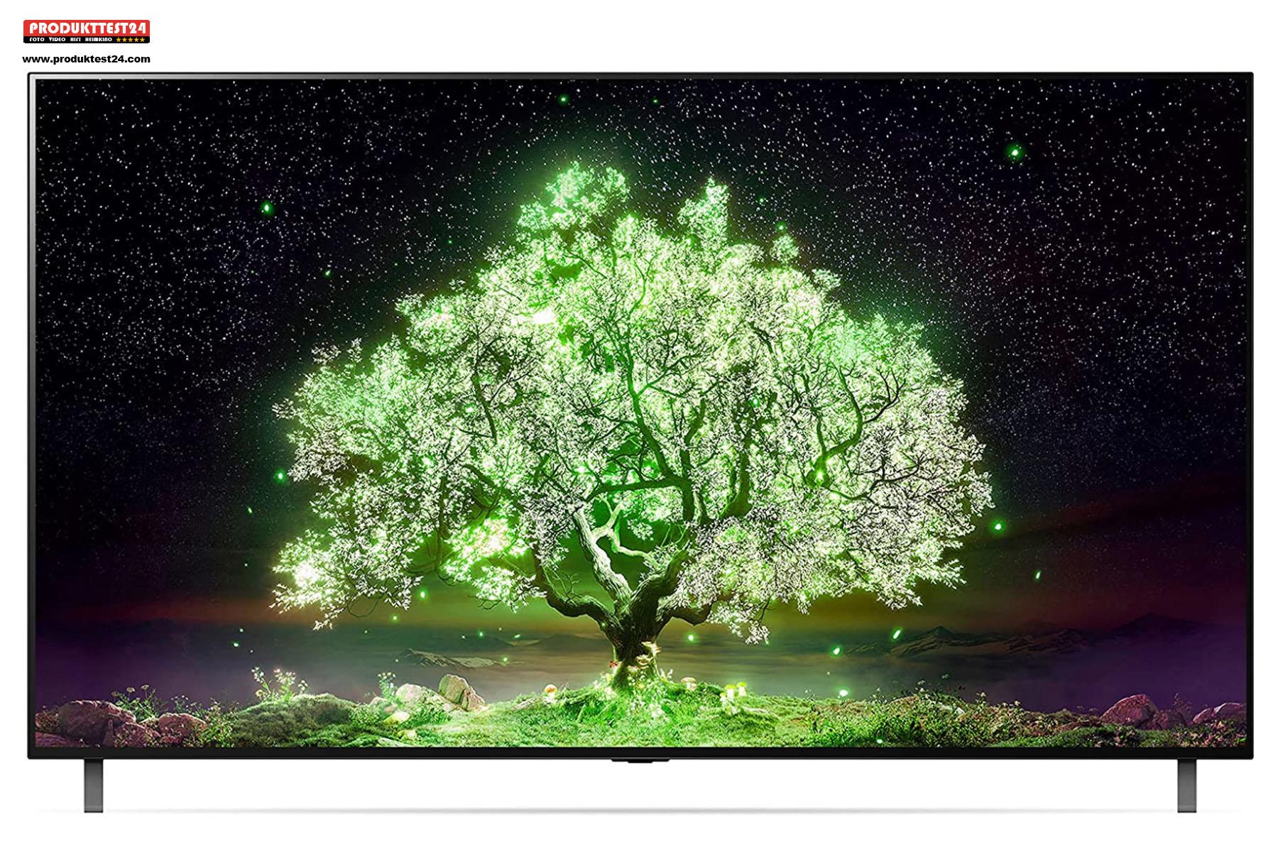 48 Zoll OLED 4K-Fernseher mit HDR10 und Dolby Vision.
