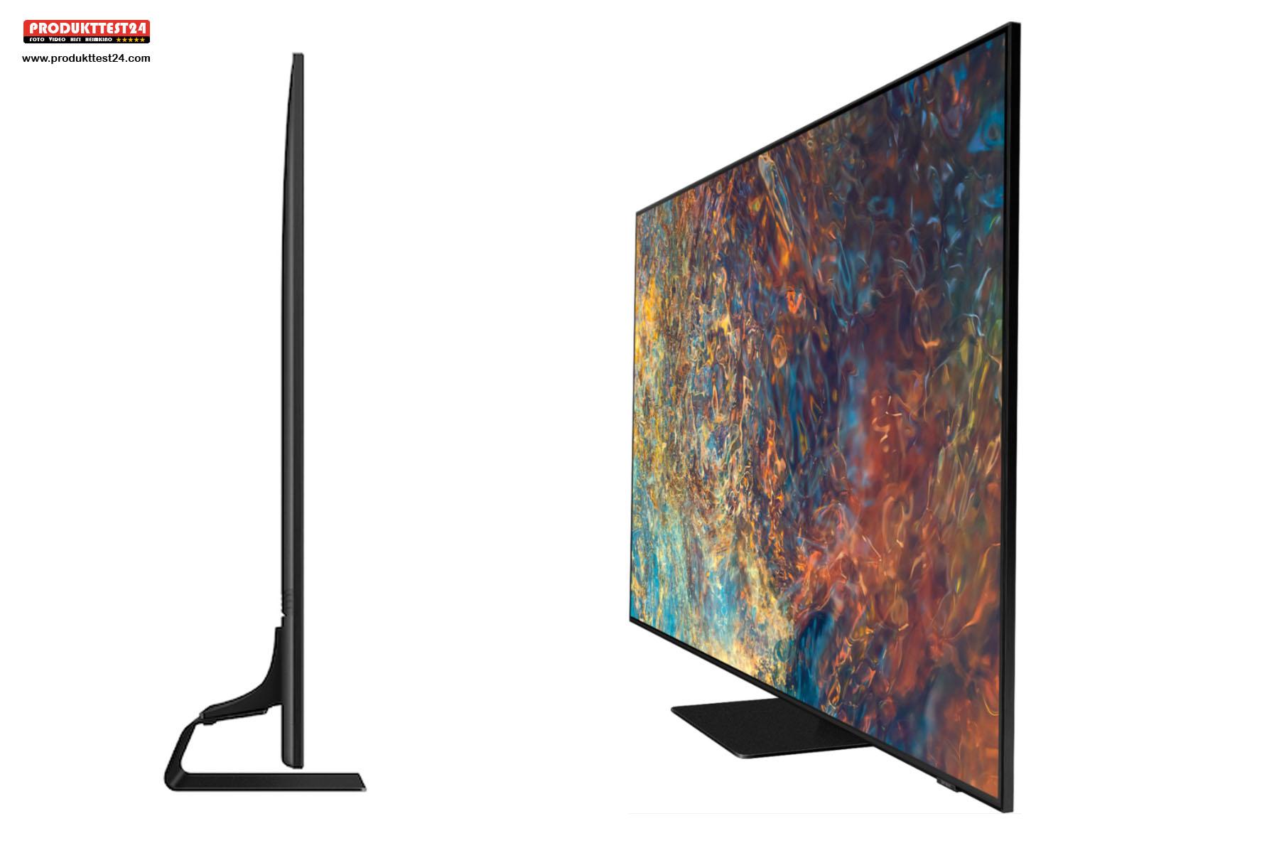 Der Samsung GQ50QN90A ist extrem Flach. Mit 2,7 cm ist er dünner als die meisten Bilderrahmen.
