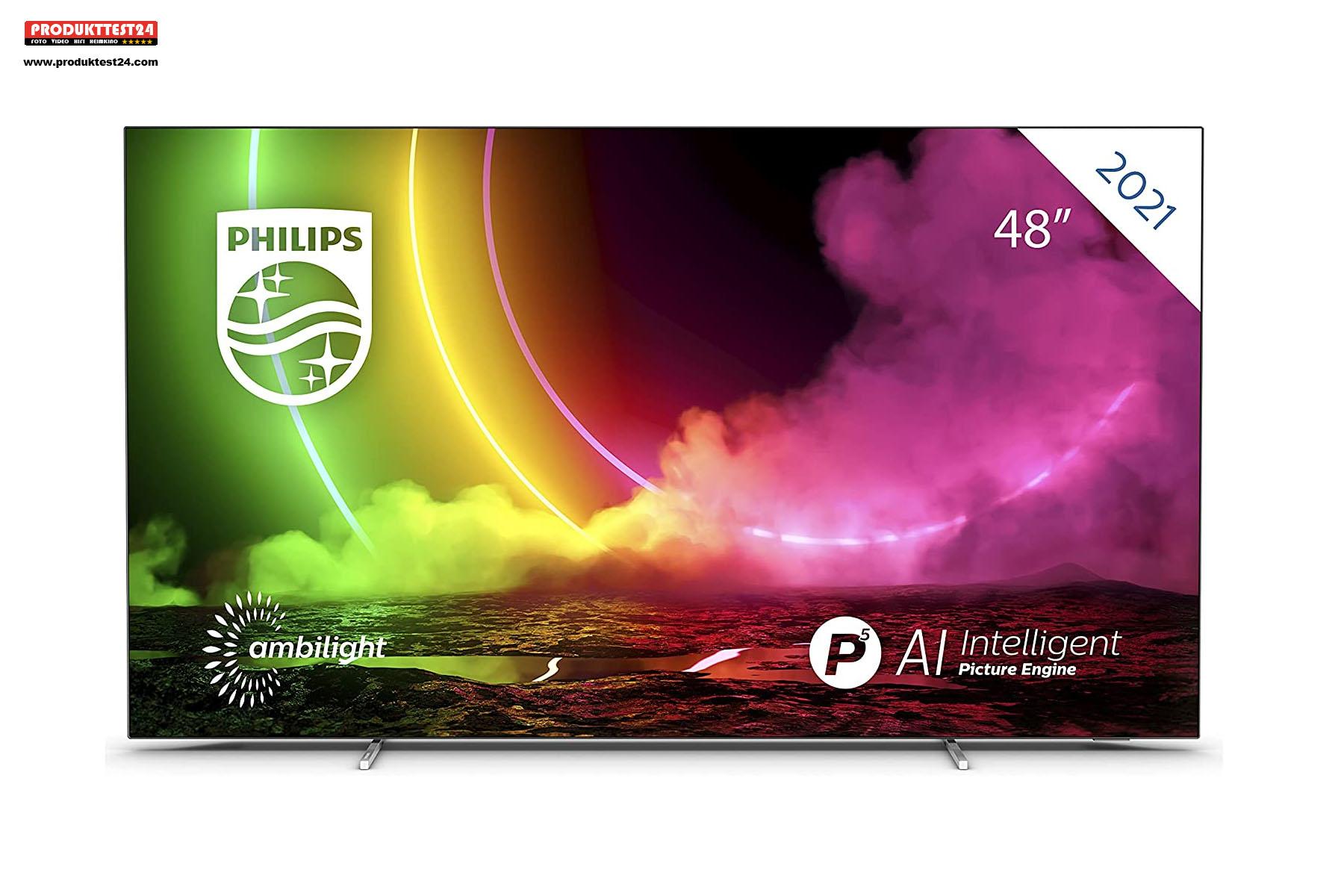 Der Philips 48OLED806/12 ist der kleinste OLED-Fernseher auf dem Markt.