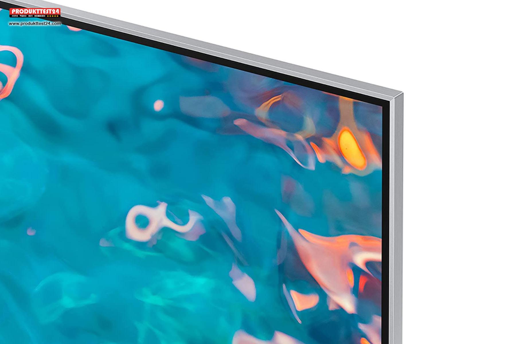 Der Samsung GQ75QN85A ist mit 2,7 cm extrem flach.