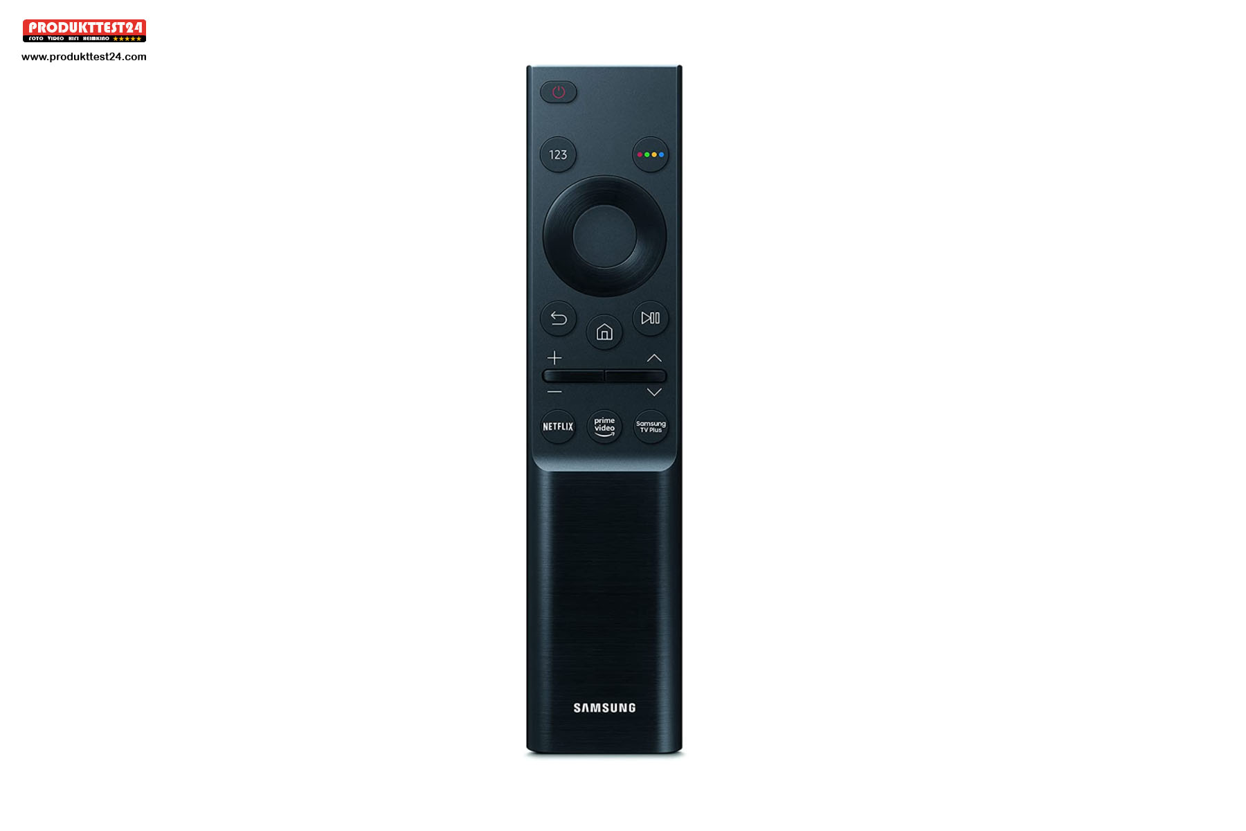 Die Eco Smart Remote Fernbedienung des Samsung GU75AU7199