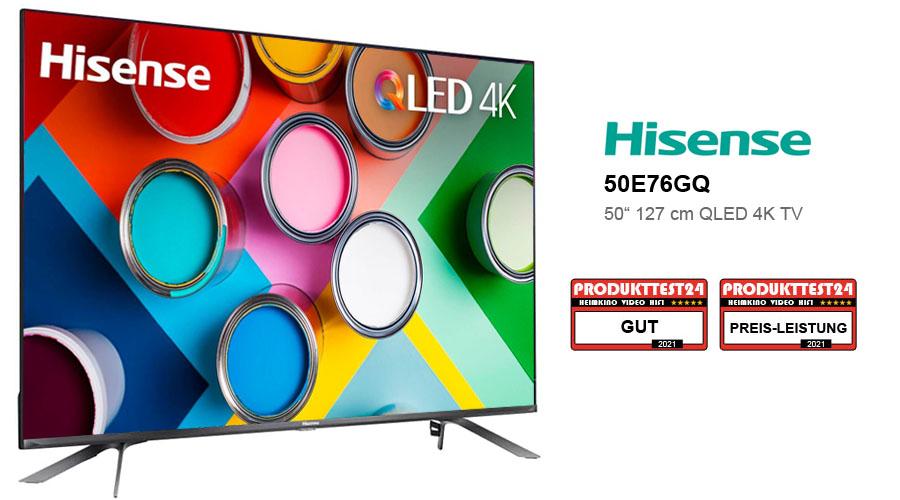 Hisense 50E76GQ QLED 4K-Fernseher im Test
