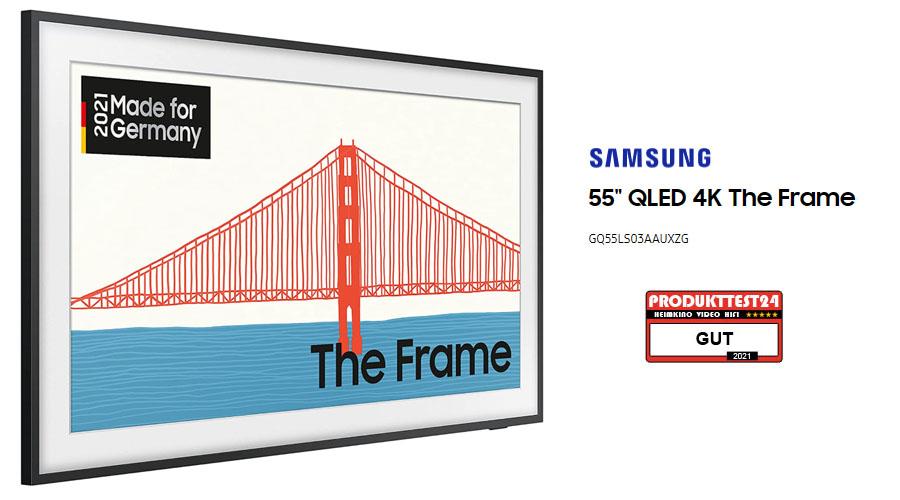 """Samsung The Frame 55"""" von 2021 im Test (Samsung GQ55LS03A)"""