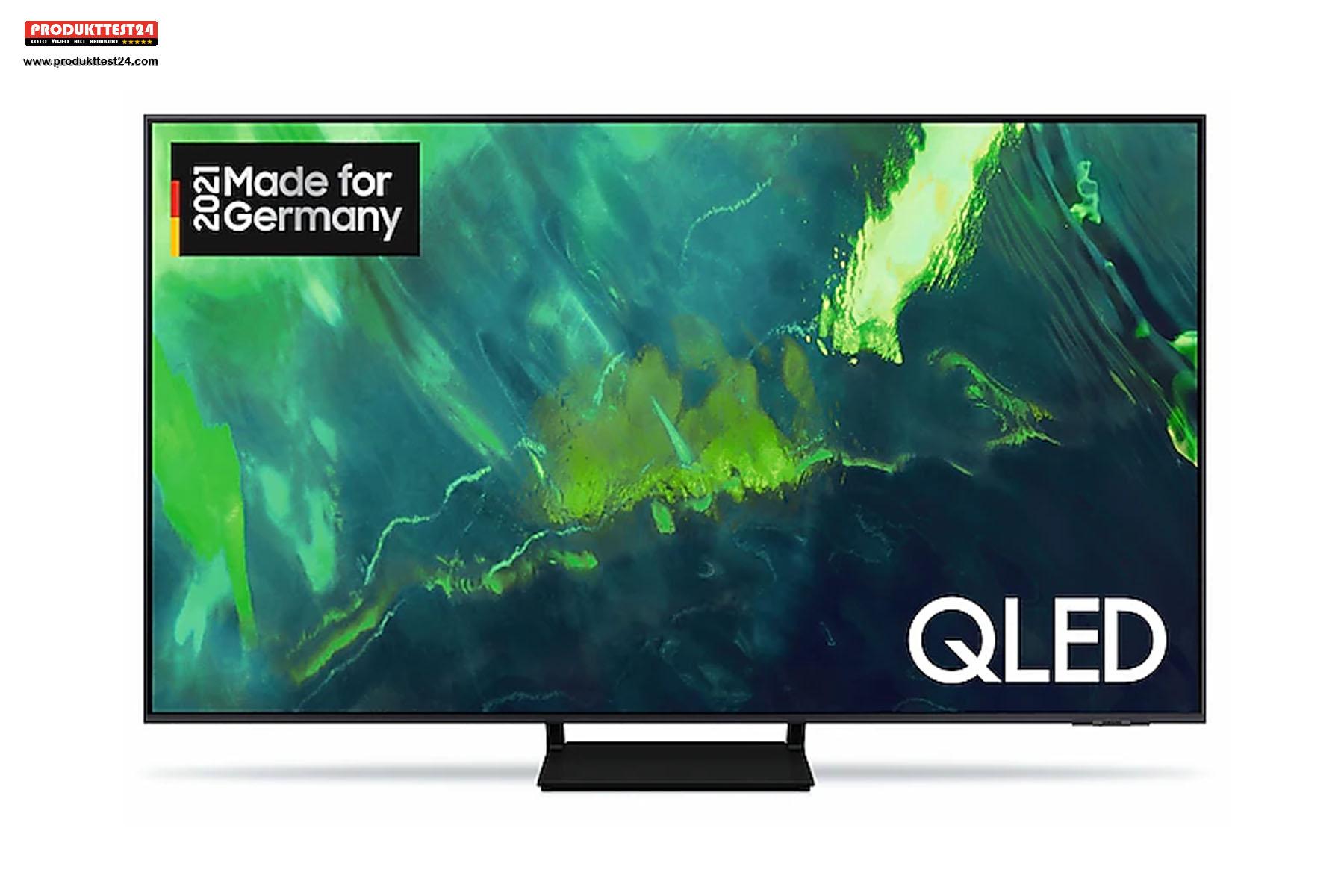 Der 55 Zoll große Samsung Q70A QLED 4K-Fernseher.