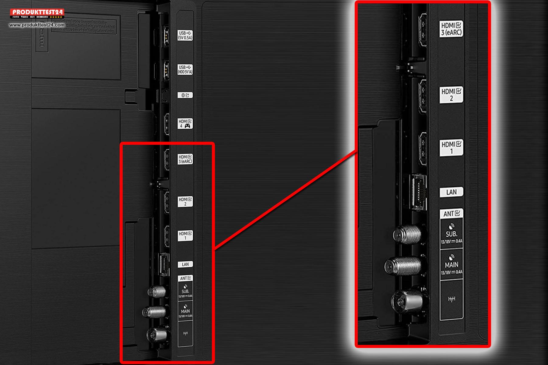 Alle 4 HDMI Eingänge unterstützen den neuen HDMI 2.1 Standard mit 4K bei 120 FPS