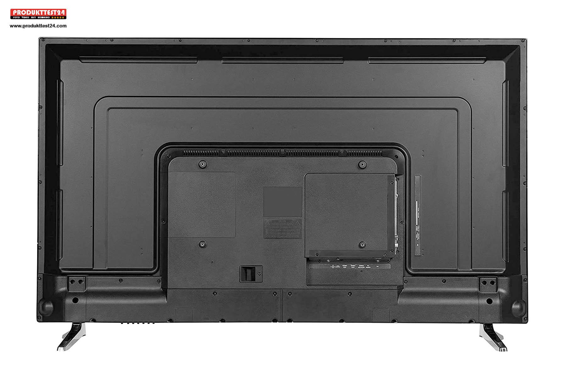 Die Rückseite des MEDION P15511 ist schlicht gehalten.