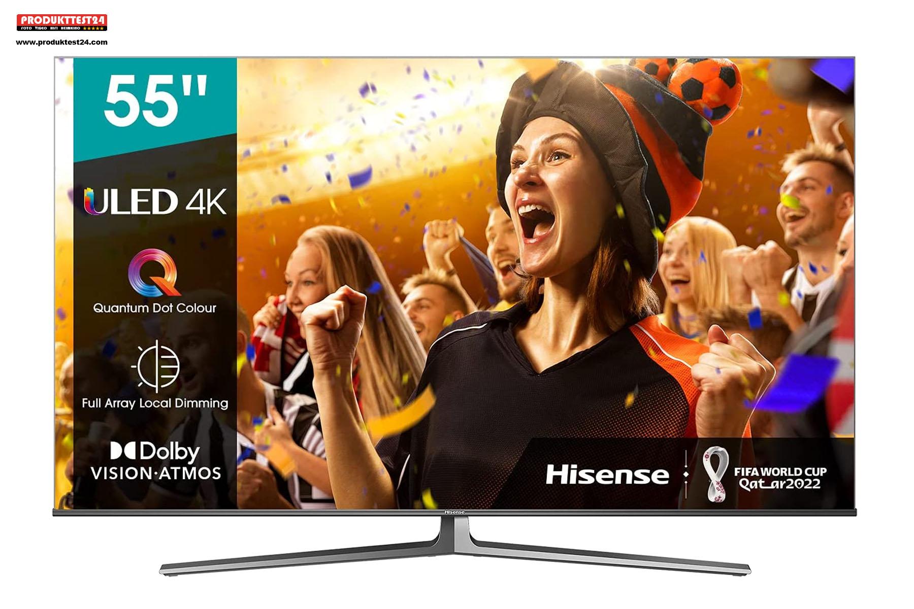Hisense 55U81GQ QLED 4K-Fernseher mit 120 Hz und Full Array Local Dimming