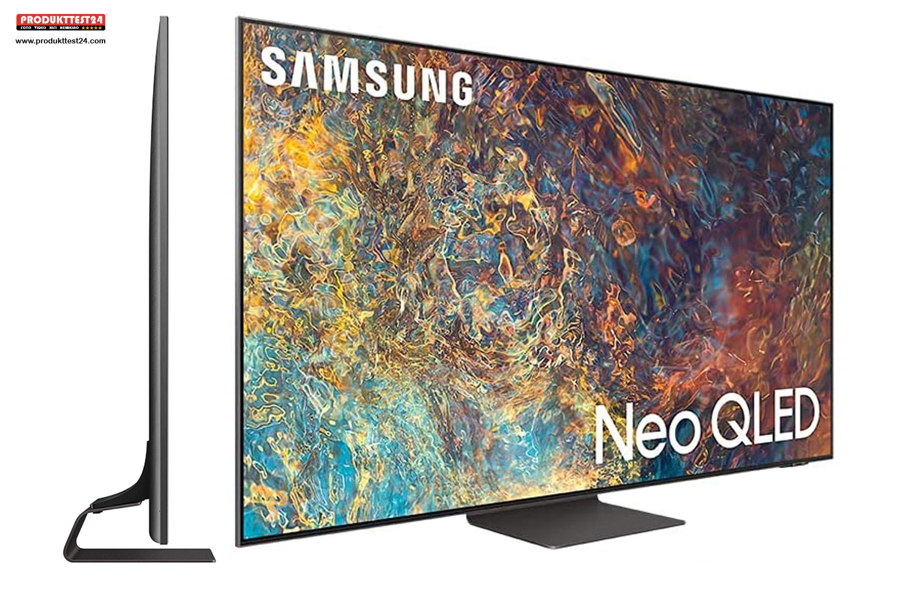 So schlank wie ein OLED-Fernseher. Der Samsung GQ55QN95A ist nicht dicker als 25 mm.